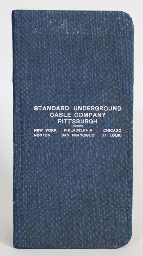 Handbook of Price Lists, Telegraph Code and Useful Information relating to Bare and Insulated Wires and Cables for the Conduction of Electric Currents. Joseph W. Marsh.