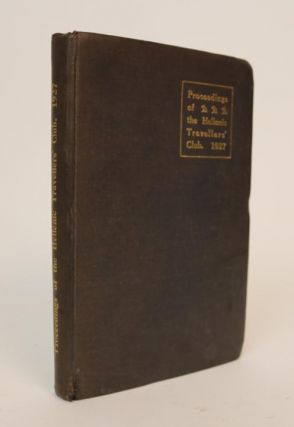 Proceedings of the Hellenic Travellers' Club: 1927. Hellenic Travellers' Club