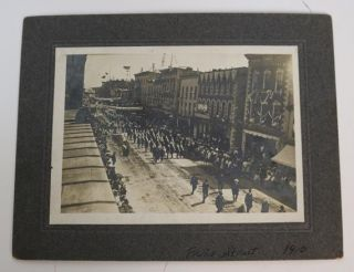 Soldiers Marching Down Front Street, Belleville ON, 1910