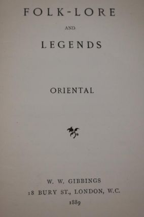 Folk-lore and Legends; Oriental