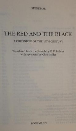 The Red and the Black. A Chronicle of the 19th Century