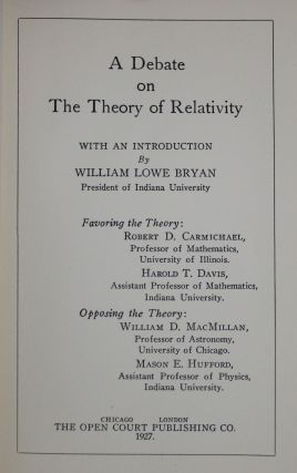 A Debate on the Theory of Relativity