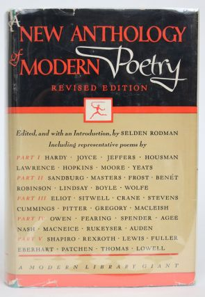 A New Anthology of Modern Poetry. Selden Rodman