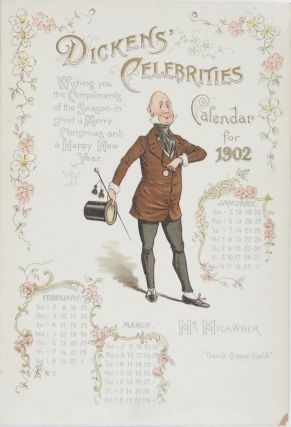 Dickens' Celebrities: Calender for 1902 (Single Page