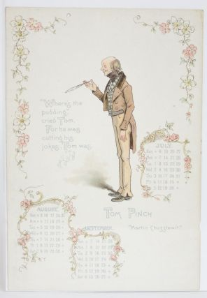 Dickens' Celebrities: Calendar for 1902 (Single Page