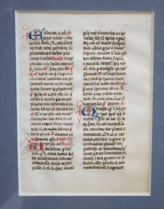 A Leaf from a Medieval Manuscript Breviary