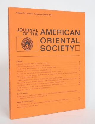 Journal of the American Oriental Society Vol. 94, No. 1, january-March 1974. Ernest Bender