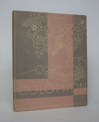 The Colophon: A Book Collector's Quarterly, Volume Tow, Part Eight. Elmer Adler, Burton Emmett,...