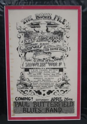 "Toronto ""Rock Pile"" Concert Hall Handbill/Poster: Howlin' Wolf & His Blues Band Featuring..."
